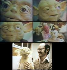 The Yoda puppet that Wendy Froud built