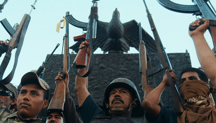 CARTEL LAND - 2015 FILM STILL - Pictured: Autodefensas rally in Michoac·n, Mexico - Photo Credit: