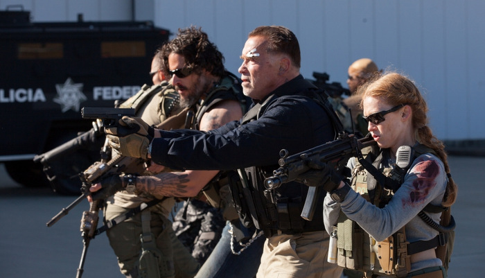 Mireille-Enos-Joe-Manganiello-and-Arnold-Schwarzenegger-in-Sabotage-2014-Movie-Image.jpg